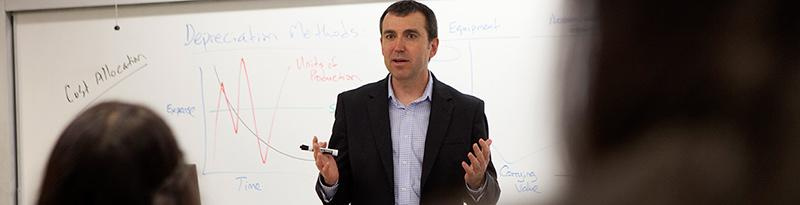 Professor Chris Burnley teaching