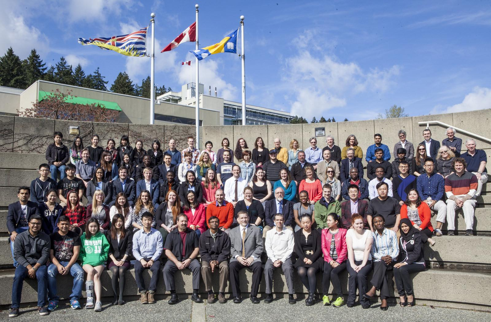 Graduating FOM students June 2015 and FOM employees